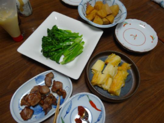夕飯の料理の写真です。