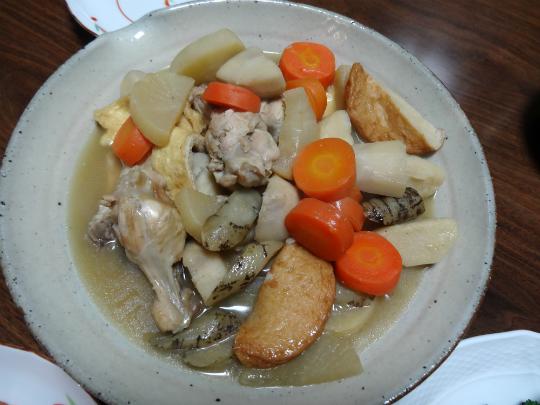 根菜類を使った煮しめ(おでん風)の写真です。