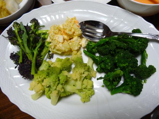 春野菜の盛合せ写真です。